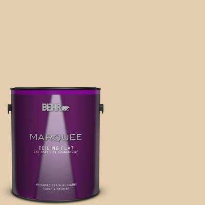 1 gal. #MQ3-44 Ancient Scroll One-Coat Hide Ceiling Flat Interior Paint and Primer in One