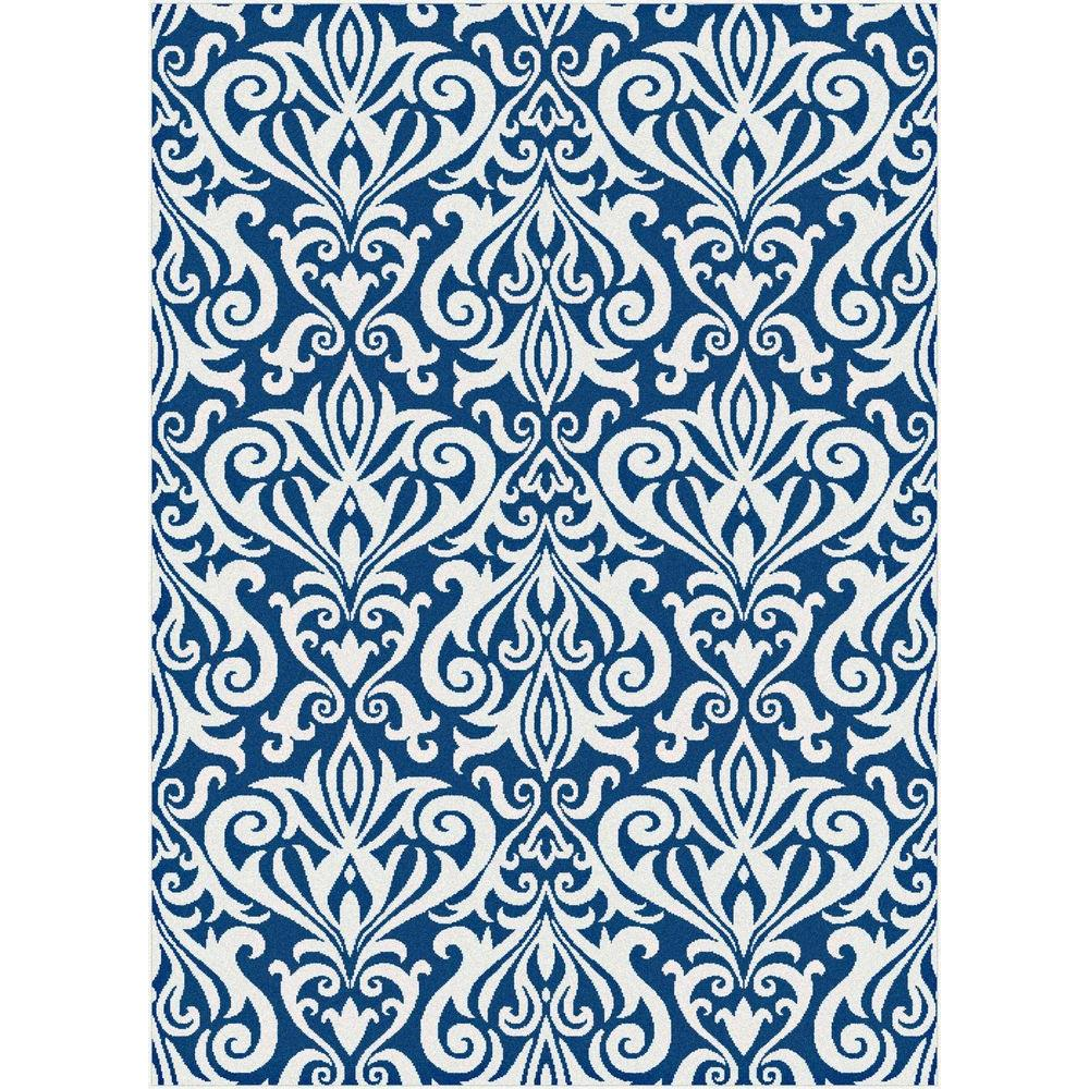 Tayse Rugs Metro Navy 5 ft. 3 in. x 7 ft. 3 in. Contemporary Area Rug