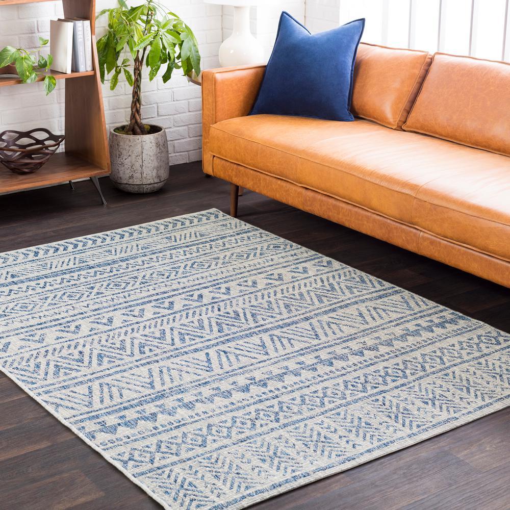 Eartha Denim 8 ft. x 10 ft. Indoor/Outdoor Area Rug