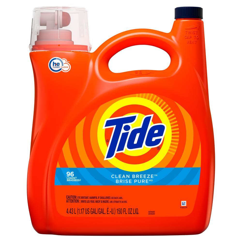 Tide 150 oz. Clean Breeze HE Liquid Laundry Detergent (96-Loads)