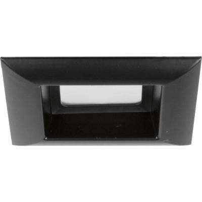 Retrofit Square Collection 4 in. Black Integrated LED Recessed Trim