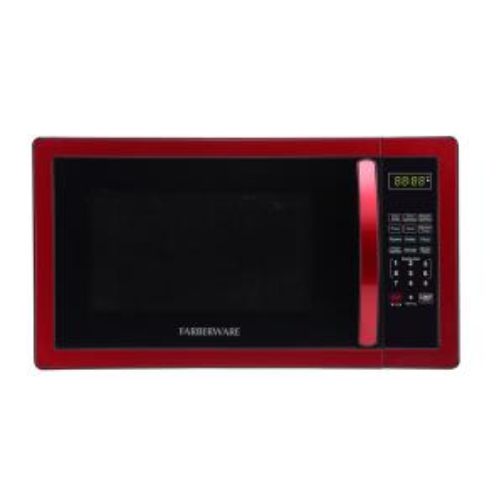 1000 Watt Countertop Microwave Oven In Metallic Red 04304 The Home Depot