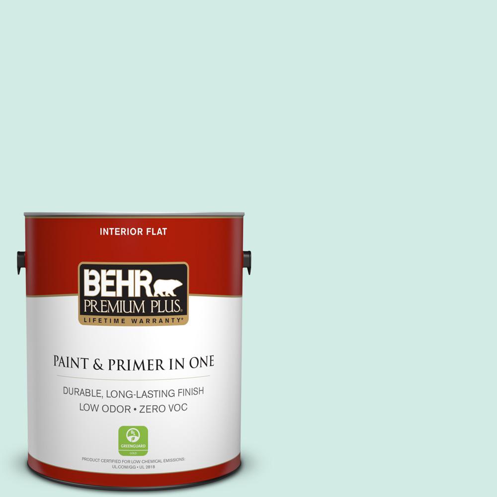 BEHR Premium Plus 1-gal. #490C-2 Adriatic Mist Zero VOC Flat Interior Paint