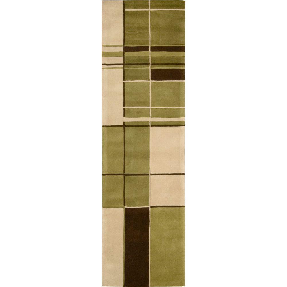 Nourison Dimensions Green 2 ft. 3 in. x 8 ft. Runner