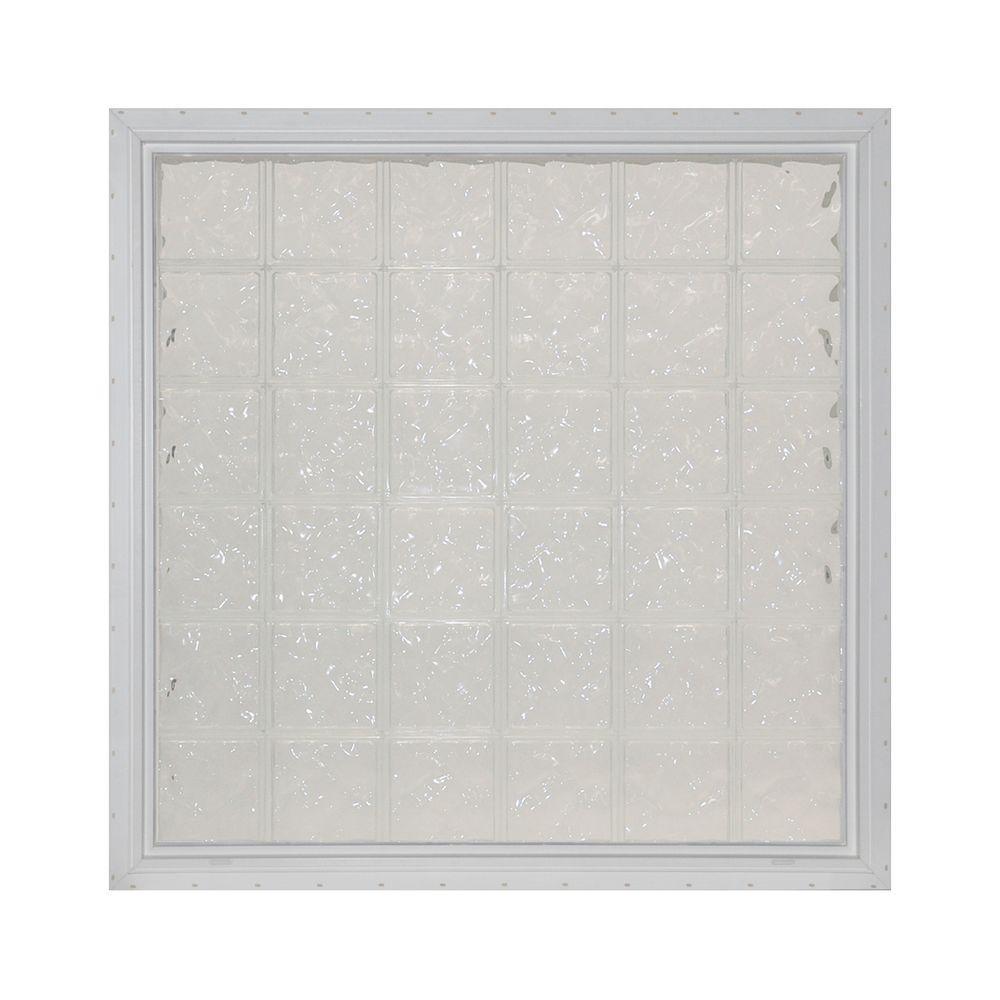 null 48.625 in. x 48.625 in. Decora Glass Block Window