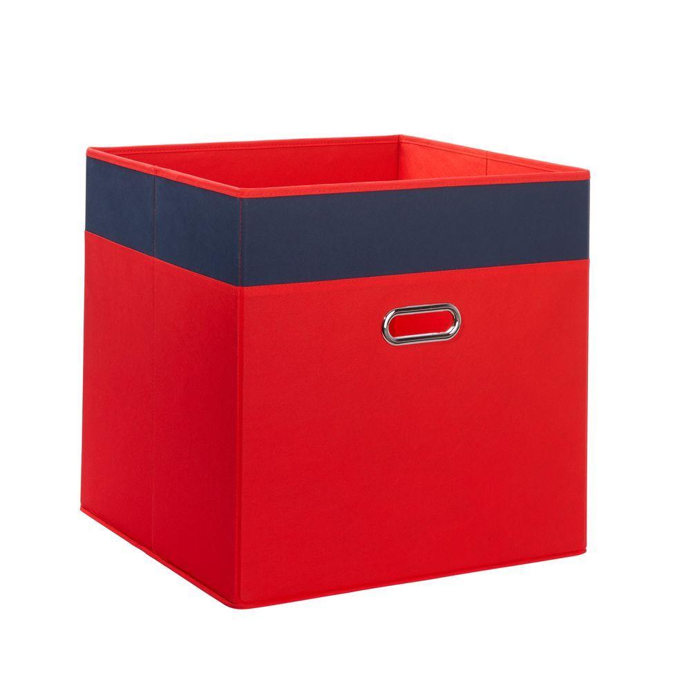Riverridge kids 16 in x 16 in 2 tone jumbo folding for Navy bathroom bin