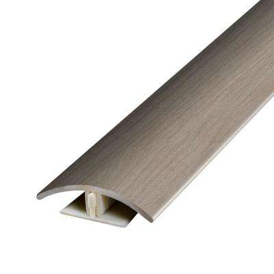 Aged Timber Light Grey .37 in. Thick x 1.75 in. Wide x 78.7 in. Length Vinyl 2-in-1 Molding
