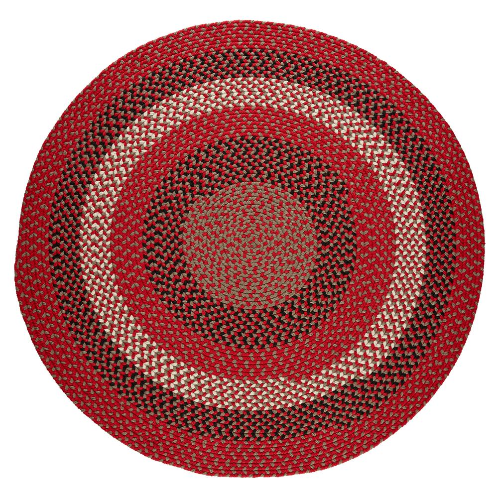 Rhody Rug Milan Red Brick 8 Ft X 8 Ft Round Indoor Outdoor Braided Area Rug