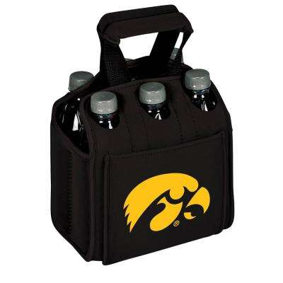 University of Lowa Hawkeyes 6-Bottles Black Beverage Carrier