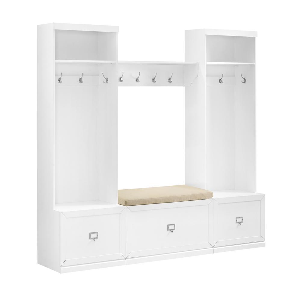 Harper 4-Piece White Entryway Set