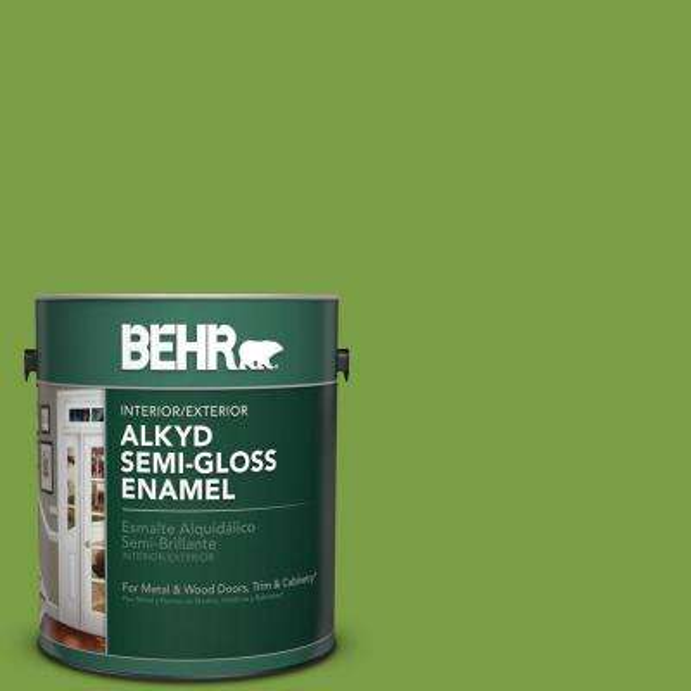 1 gal. #420B-7 Pepper Grass Semi-Gloss Enamel Alkyd Interior/Exterior Paint