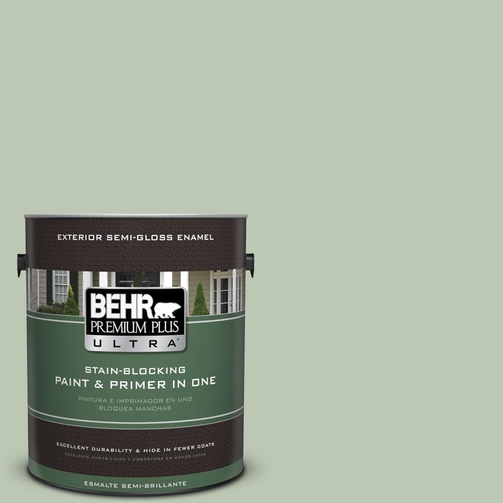 BEHR Premium Plus Ultra 1-gal. #440E-3 Topiary Tint Semi-Gloss Enamel Exterior Paint
