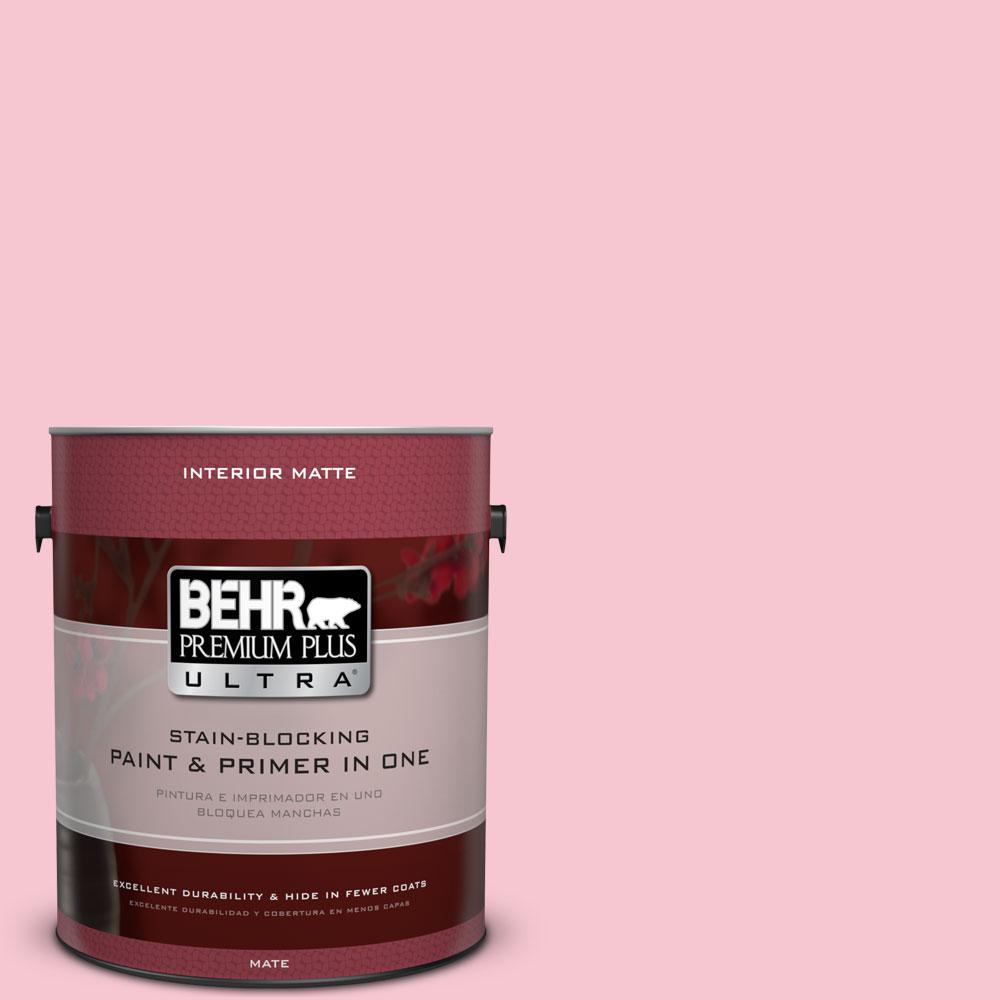 1 gal. #120B-4 Old Fashioned Pink Flat/Matte Interior Paint