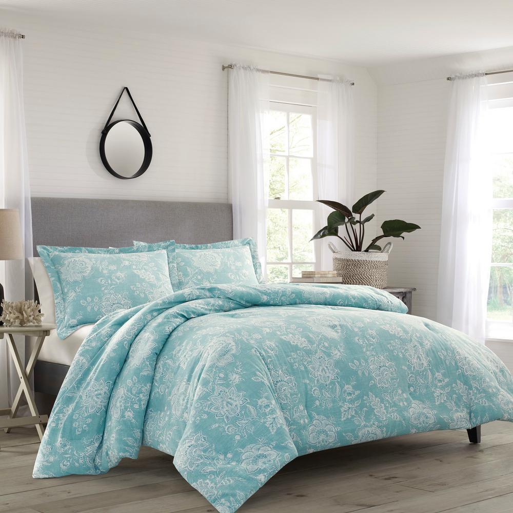 Tidewater Jacobean 3-Piece Full/Queen Comforter Set