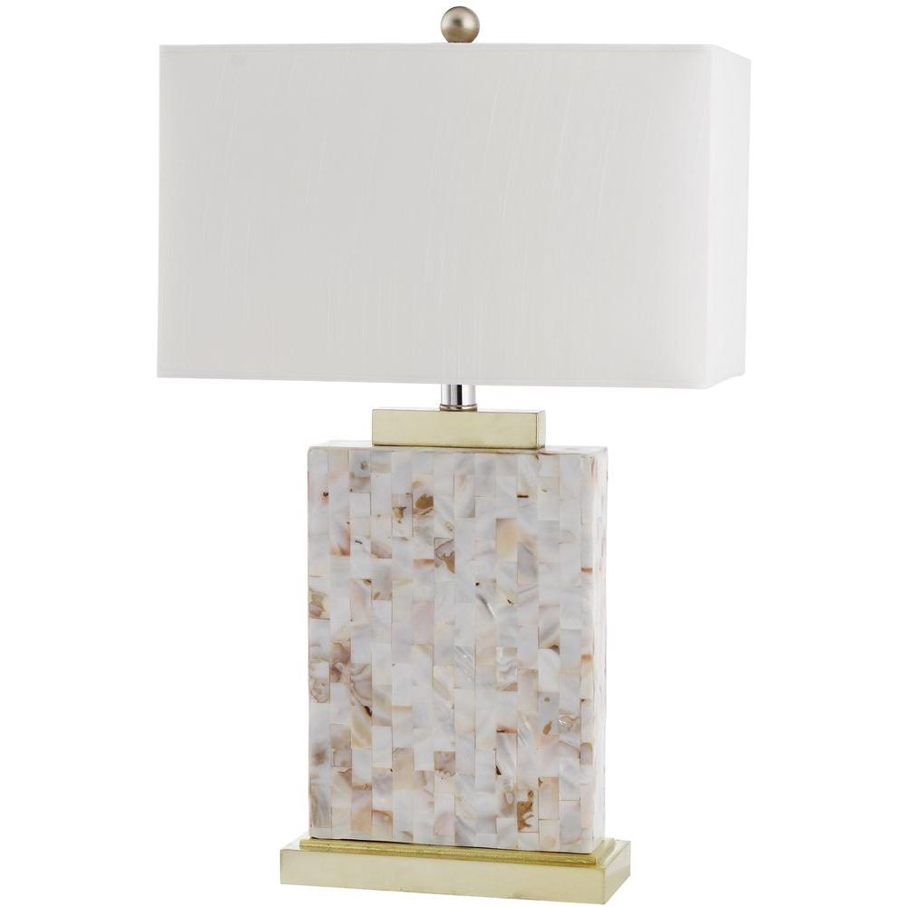 Charmant Shell Table Lamp With White Shade