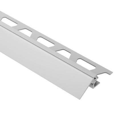 Reno-V Satin Anodized Aluminum 3/4 in. x 8 ft. 2-1/2 in. Metal Reducer Tile Edging Trim