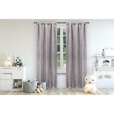Danielle 38 in. W x 84 in. L Polyester Window Panel in Lavender