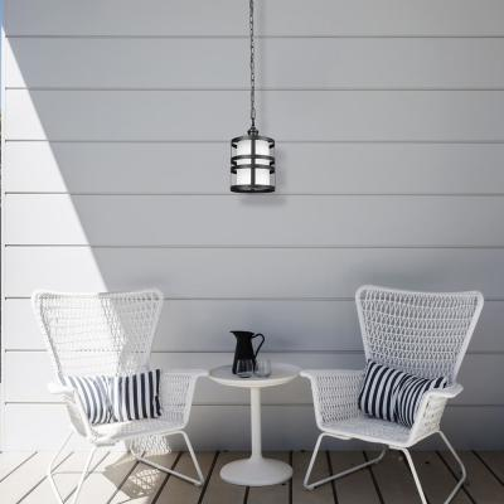 Archimedes 1-Light Matte Black Outdoor/Indoor Hanging Pendant
