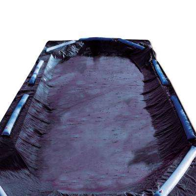 8-Year 18 ft. x 36 ft. Rectangle Black Economy In-Ground Winter Pool Cover