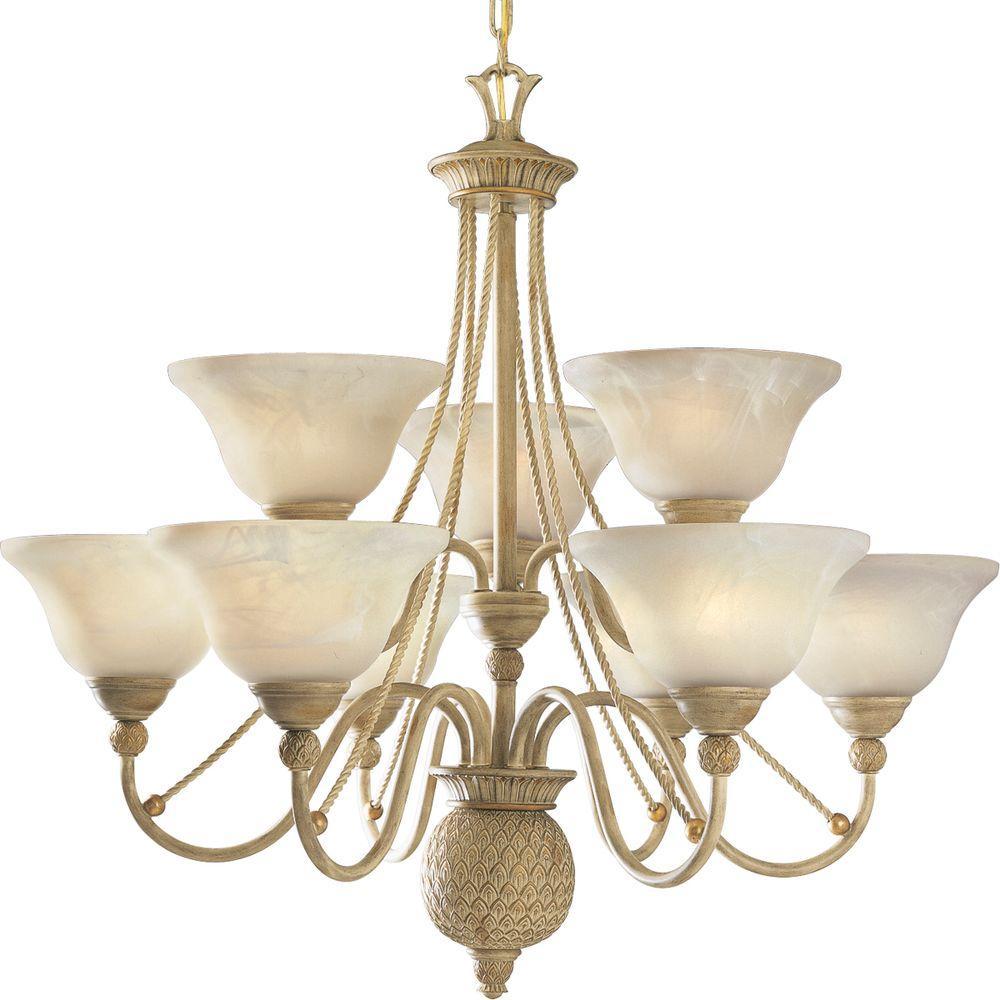 Progress Lighting Savannah Collection 9-Light Seabrook Chandelier