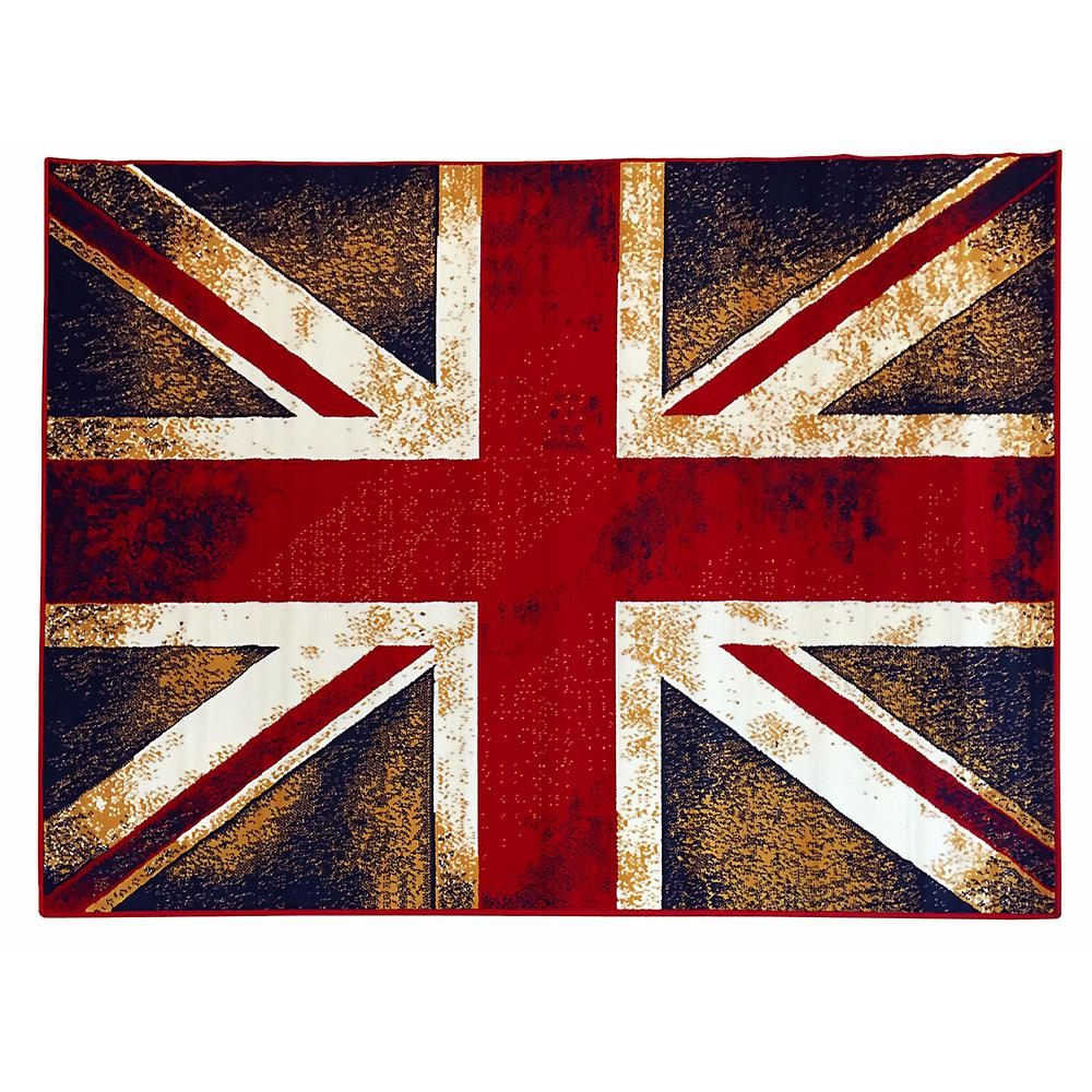 Donnieann American Patriot Rustic Style Flag Of England Union Jack Maroon 5 Ft 2 In