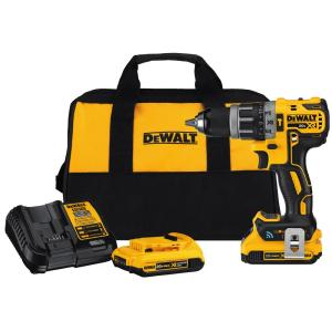 Dewalt 20-Volt MAX XR Lithium-Ion Cordless Brushless Compact Hammer Drill/Driver Kit w/Tool Connect, (2)... by DEWALT