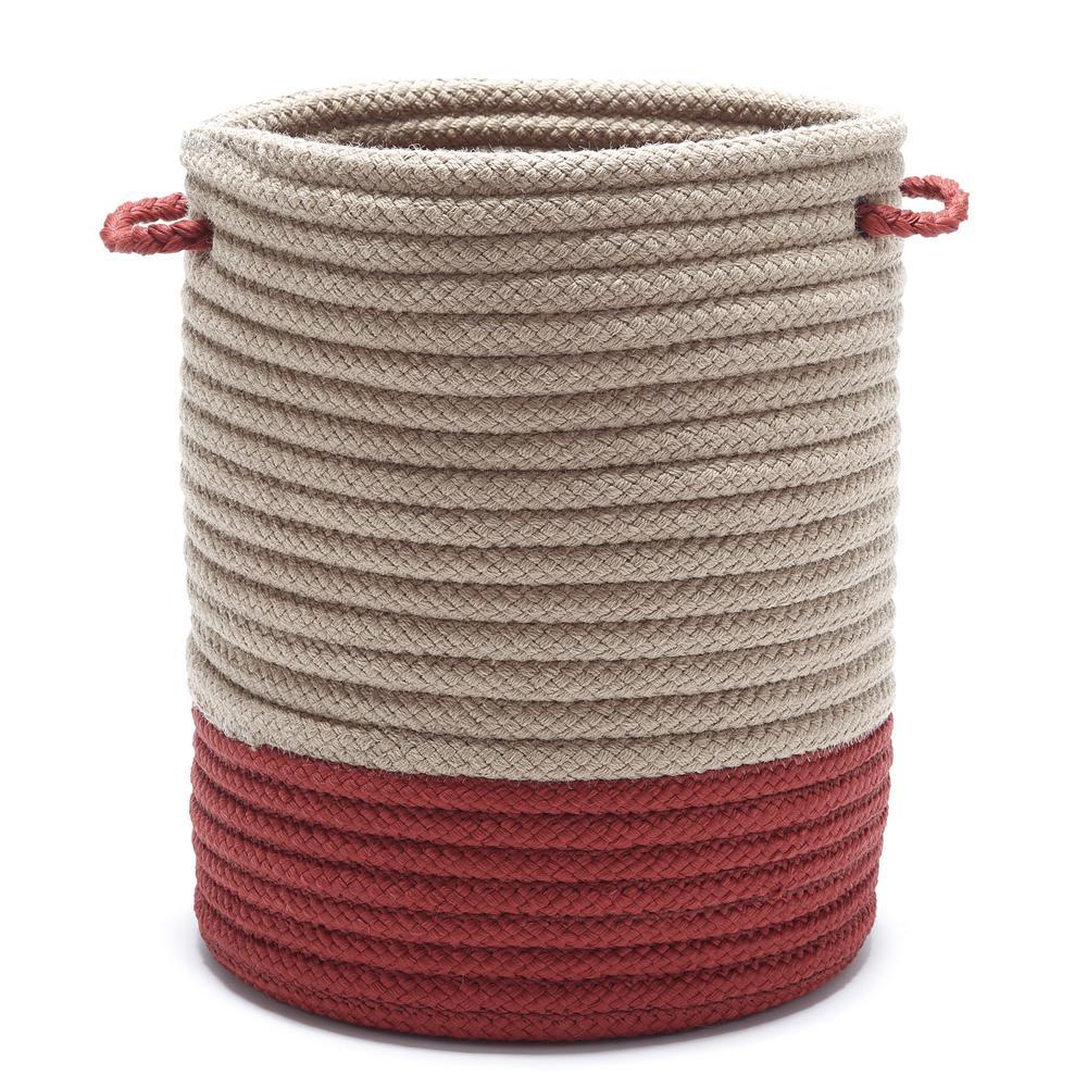 Harbor Brick Round Polypropylene Basket