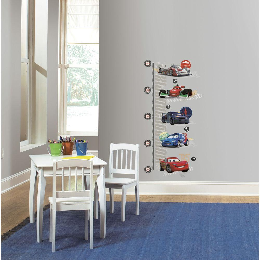 RoomMates 5 in. x 19 in. Cars 2 Peel and Stick Metric Growth Chart Wall Decals