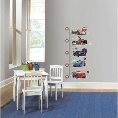 5 in. x 19 in. Cars 2 Peel and Stick Metric Growth Chart Wall Decals