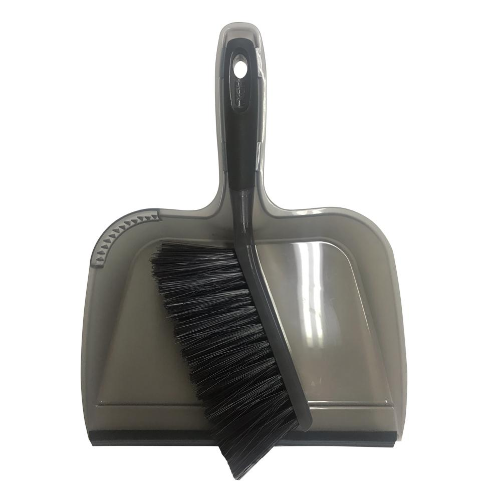 HDX HDX 10 in. Dustpan with Rubber Lip and Brush