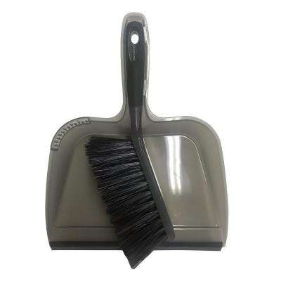 10 in. Dustpan with Rubber Lip and Brush