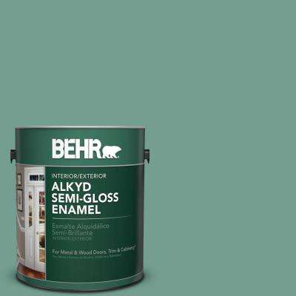 1 gal. #M430-5 Regal View Semi-Gloss Enamel Alkyd Interior/Exterior Paint