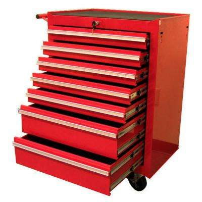 27 in. 7-Drawer Roller Cabinet Tool Chest, Red