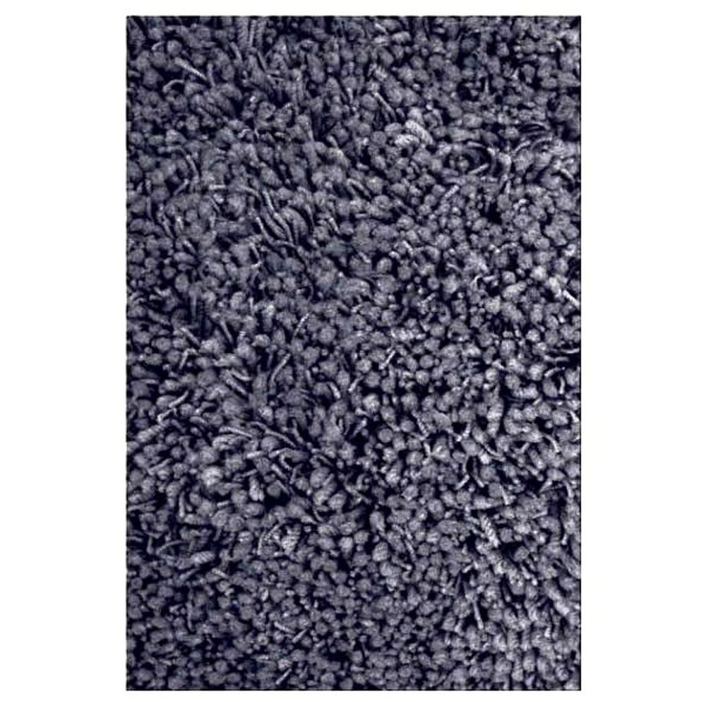 LA Rug Shag Plus Black 4 ft. 11 in. x 7 ft. 3 in. Area Rug