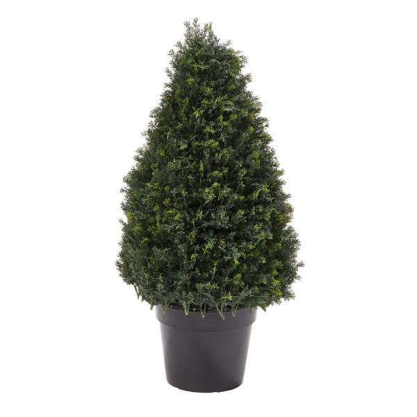 37 in. Artificial Cypress Tower Style Topiary