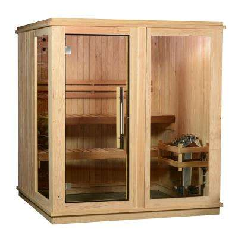 Grayson Cedar 4-Person Electric Sauna