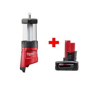 Milwaukee M12 12-Volt Cordless LED Lantern + Battery Pack