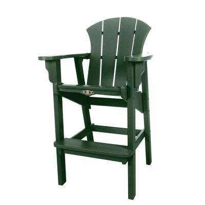 green plastic patio chairs adirondack durawood sunrise plastic outdoor high dining chair in pawleys green bar height chairs patio