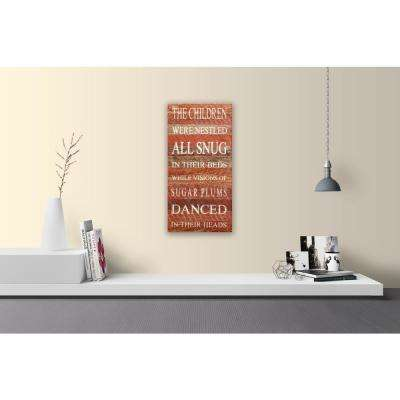 TWAS THE NIGHT BEFORE CHRISTMAS CHILDREN WERE NESTLED Reclaimed Wood Decorative Sign