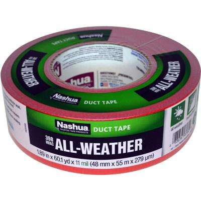 1.89 in. x 60 yd. 398 All-Weather HVAC Duct Tape in Red