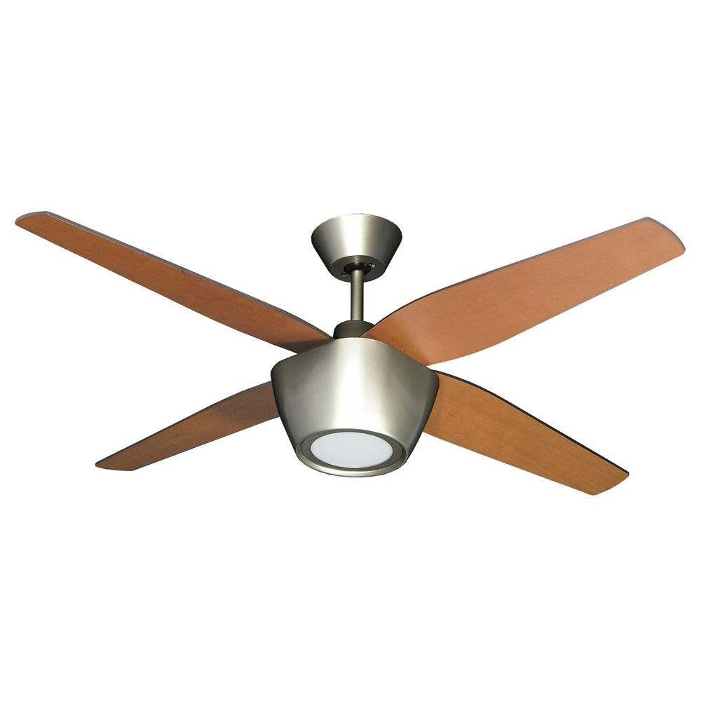 High Quality TroposAir Fresco 52 In. Brushed Nickel Ceiling Fan With LED Light