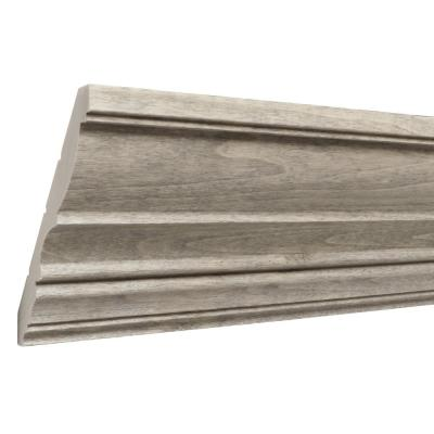 Prestained Gray 1/2 in. x 4-1/2 in. x 96 in. Wood Crown Moulding