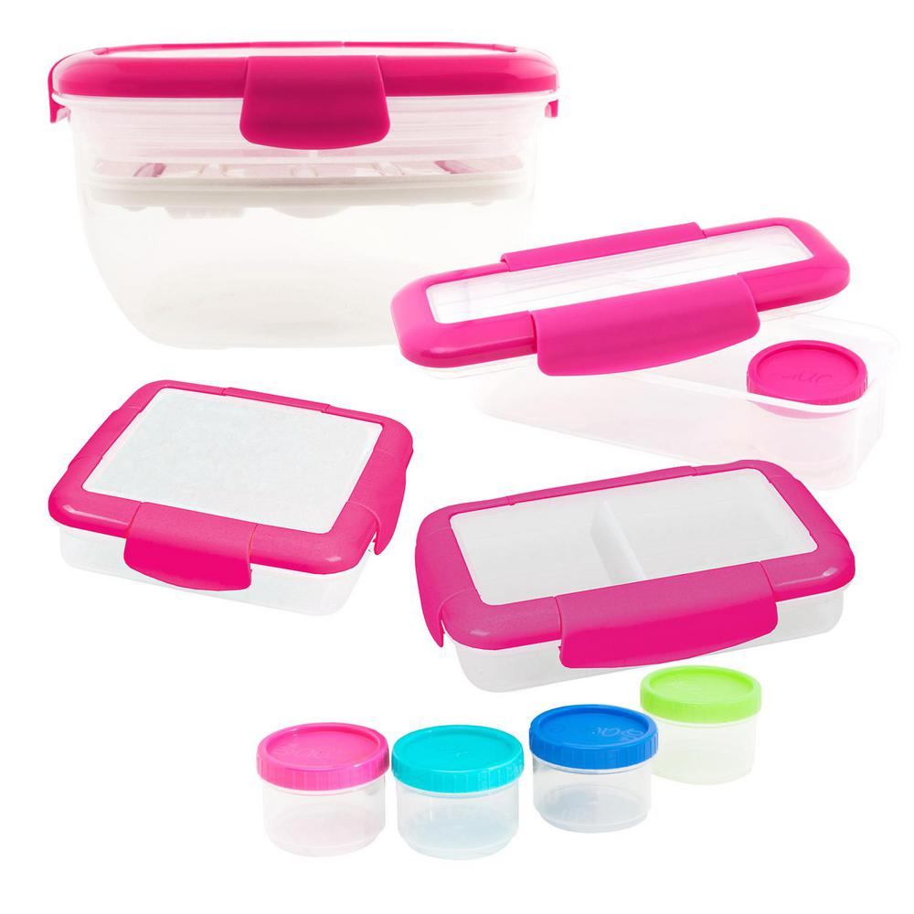 5-Piece Food Storage Container Assorted Pack in Pink