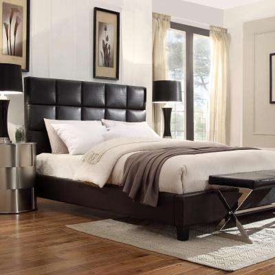 Calais Deep Brown King Upholstered Bed