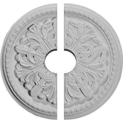16-7/8 in. O.D. x 3-1/2 in. I.D. x 1-1/2 in. P Swindon Ceiling Medallion (2-Piece)