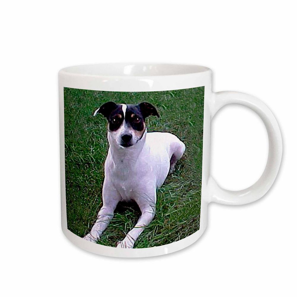 Dogs Rat Terrier 11 oz. White Ceramic Rat Terrier