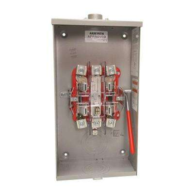 125 Amp 5 Terminal Ringless Overhead Quad Ground Meter Socket