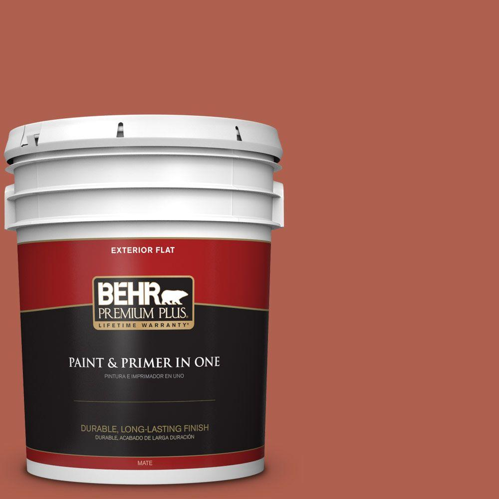 5-gal. #BIC-46 Clay Red Flat Exterior Paint