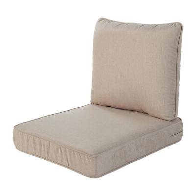 Spring Haven 23.5 in. x 26.5 in. 2-Piece Outdoor Lounge Chair Cushion in Tan