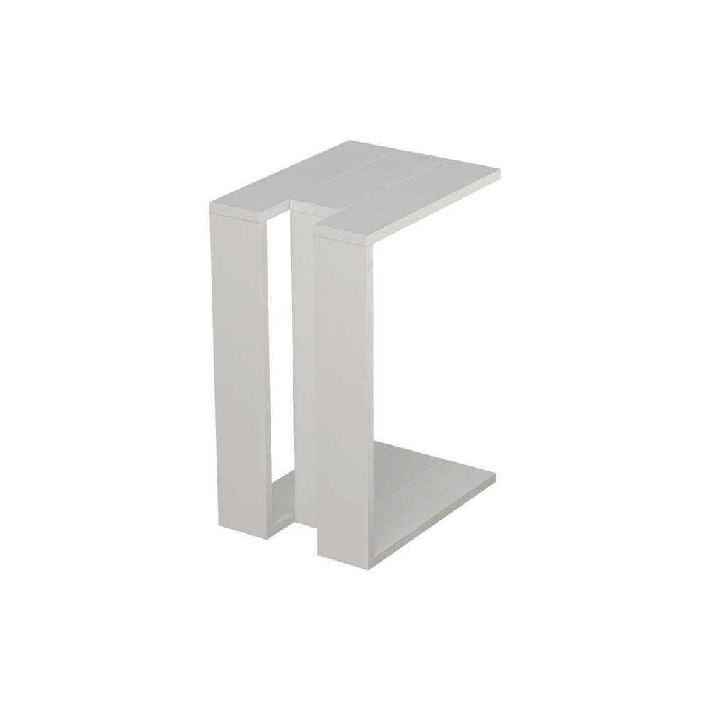 Ada Home Decor Stanley White Modern Side Table